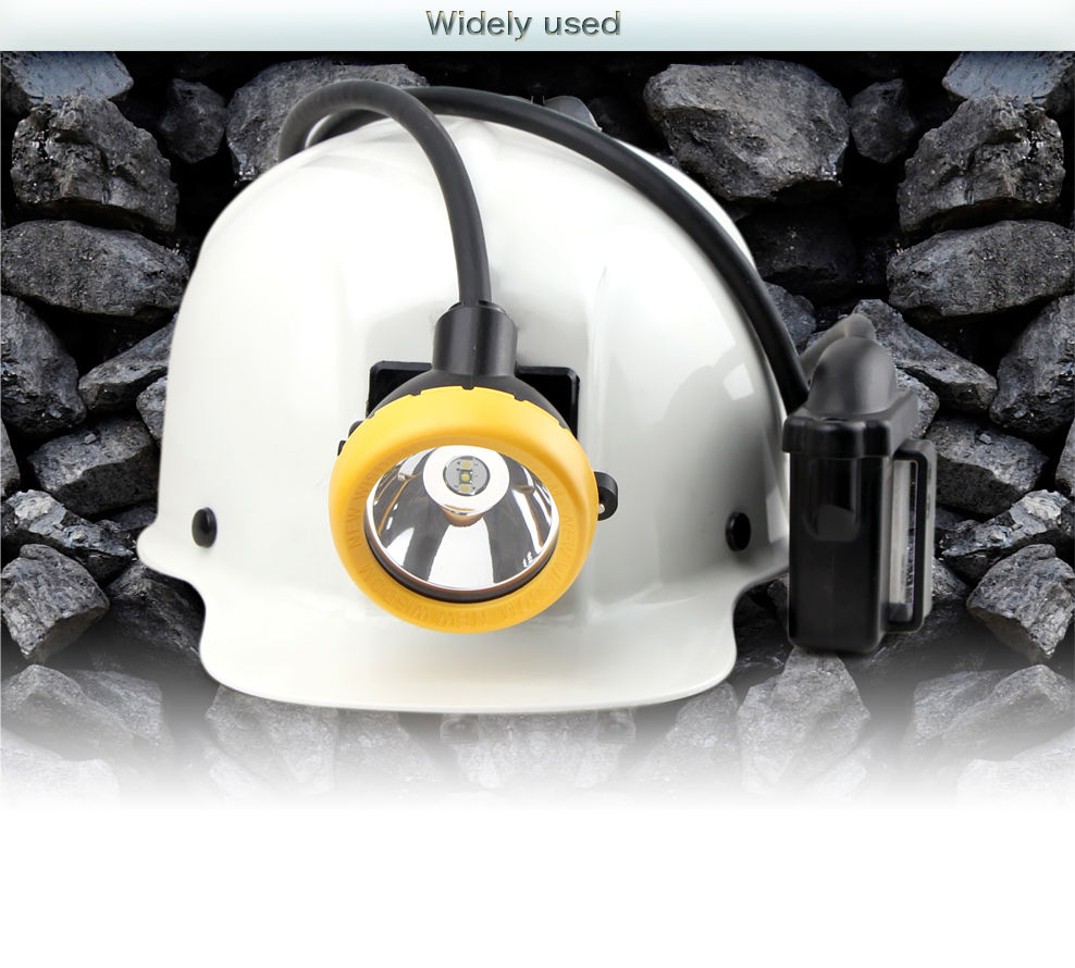 Professional LED miner's cap lamp brightness of 11000 lux 16hours workingtime safety reliable long life span of 10000hours. IP68 diving certificated.